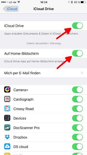 iCloud Drive aktivieren