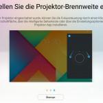 Anleitung für die Fokus-Einstellun des Lenovo Yoga Tablet 3 Pro.