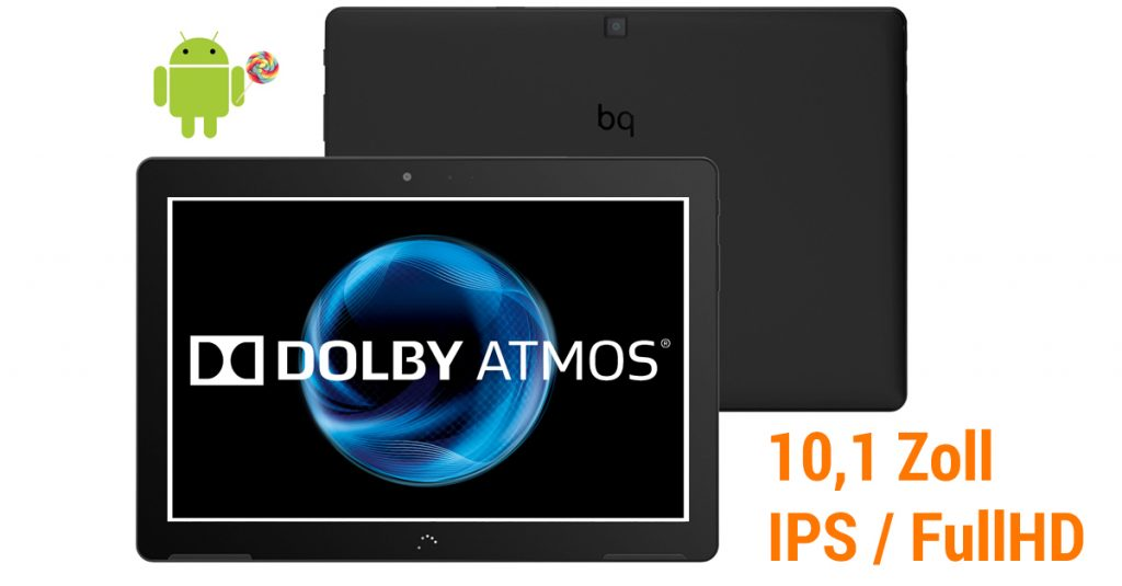 BQ Aquaris M10 – 10,1 Zoll Tablet mit Full-HD-Display und Dolby Atmos Sound