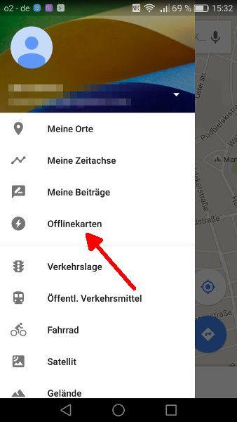 Google Maps offline Schritt 2