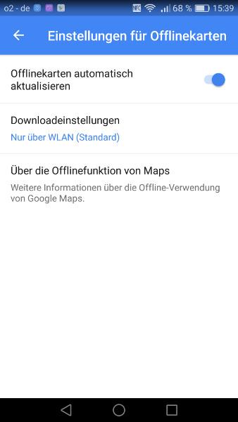 Google Maps offline Schritt 4