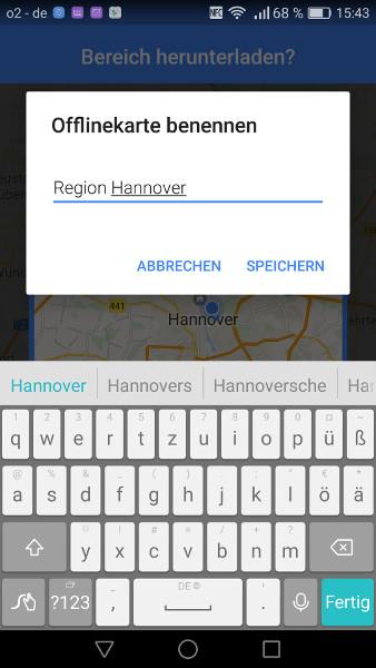 Google Maps offline Schritt 6