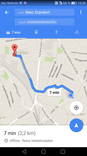 Google Maps offline Schritt 9