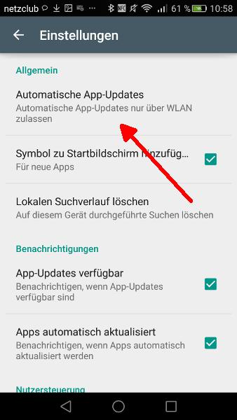 Google Play Automatische Updates abschalten Schritt 3