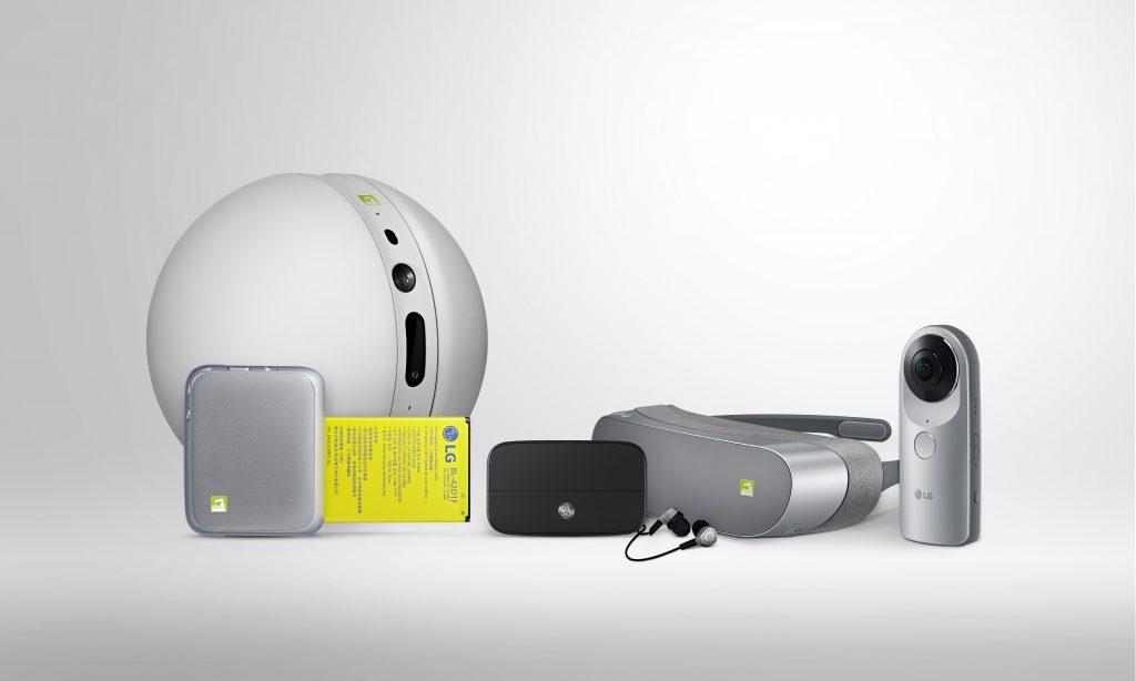 LG mit rollender Heimkamera, 360 Grad Kamera, VR-Brille uvm.