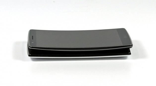 Nochmal zum Vergleich: LG G4 unten, dadrüber das LG G Flex 2