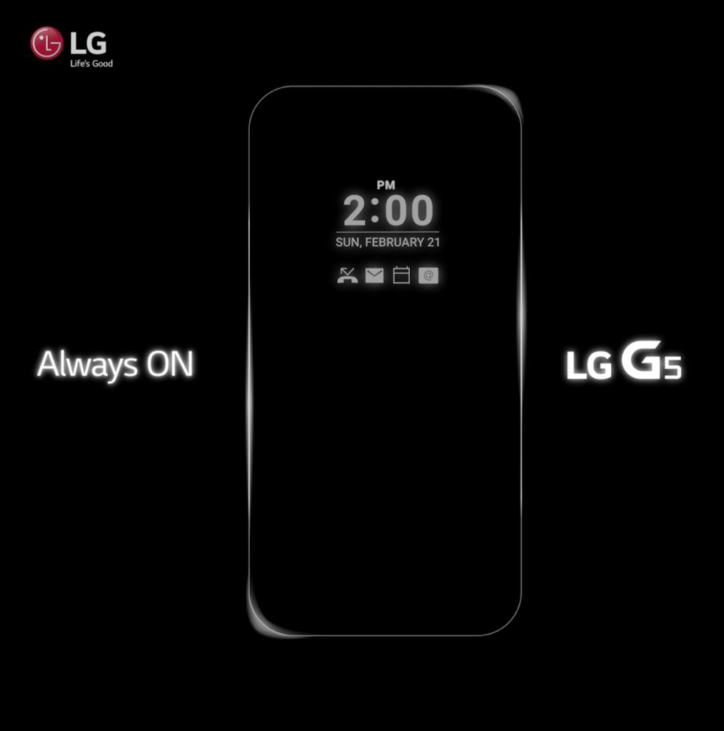 """LG G5 erhält ein """"Always on"""" Display"""