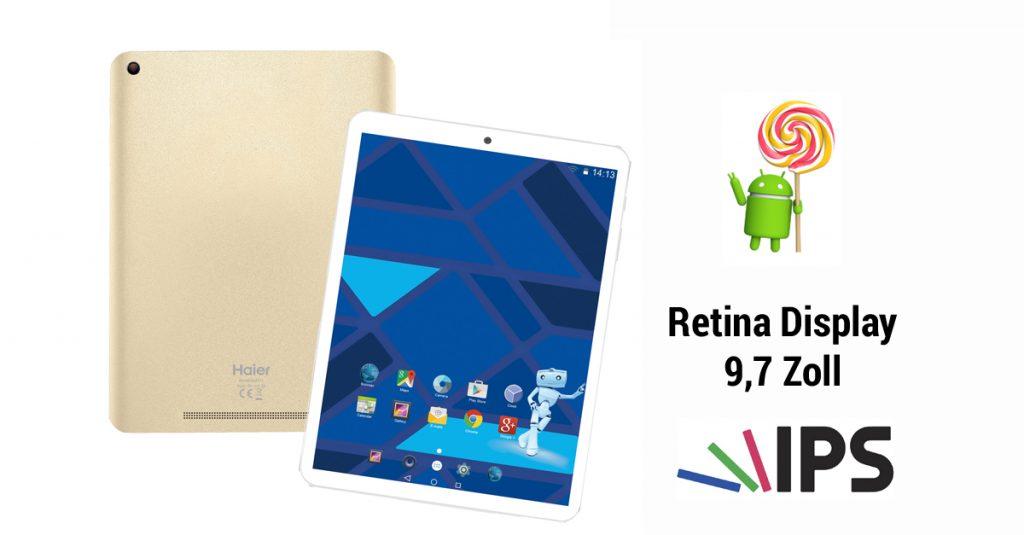Test: Haier Pad 971 Tablet mit 9,7-Zoll Retina-Display und 4k Videowiedergabe