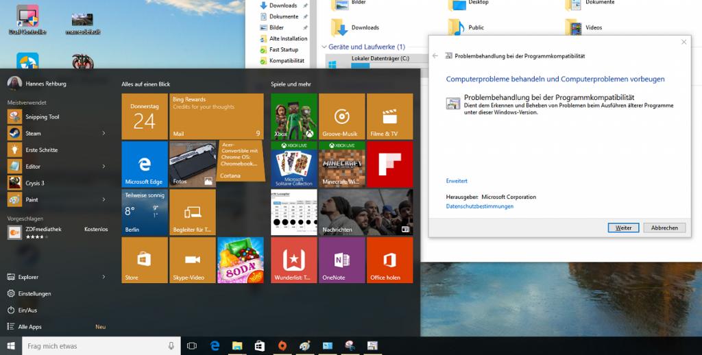 HowTo: Windows 10 Kompatibilitätsmodus für ältere Windows Versionen aktivieren