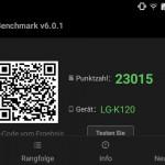 LG K4 im AnTuTu-Test