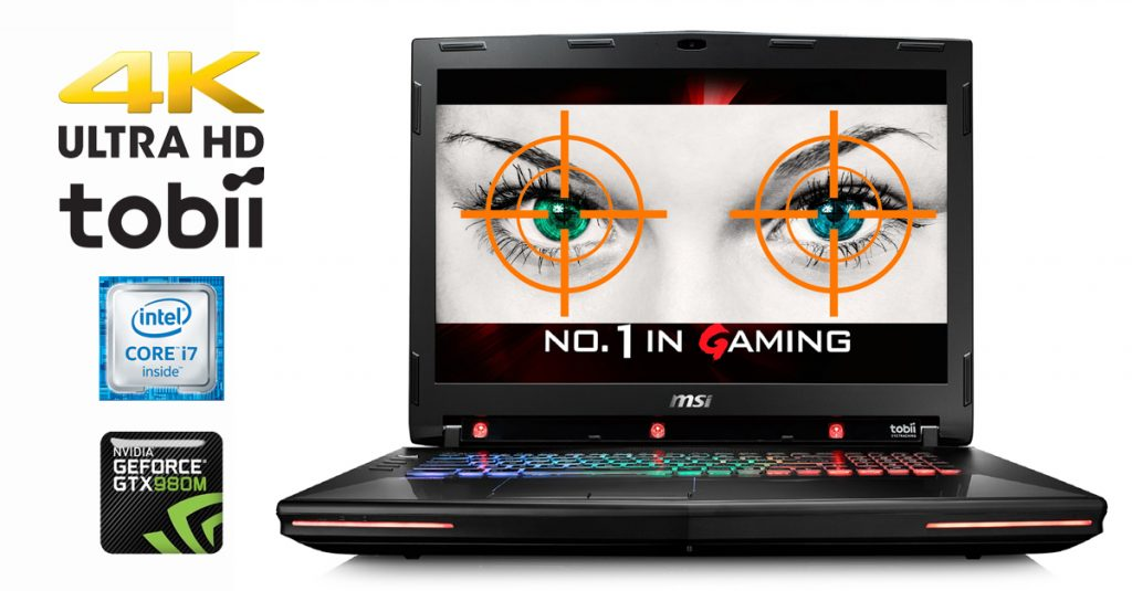 Kurztest: Erstes MSI Gaming-Notebook mit 4k-Display und Eye-Tracking von tobii