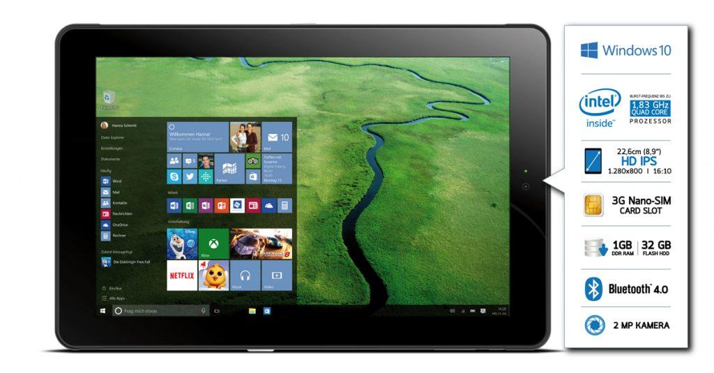 Odys Windesk 9 plus 3G V2 Tablet mit Tastatur im Kurztest