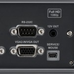 RS232, Power OUT und microUSB (Service Only)