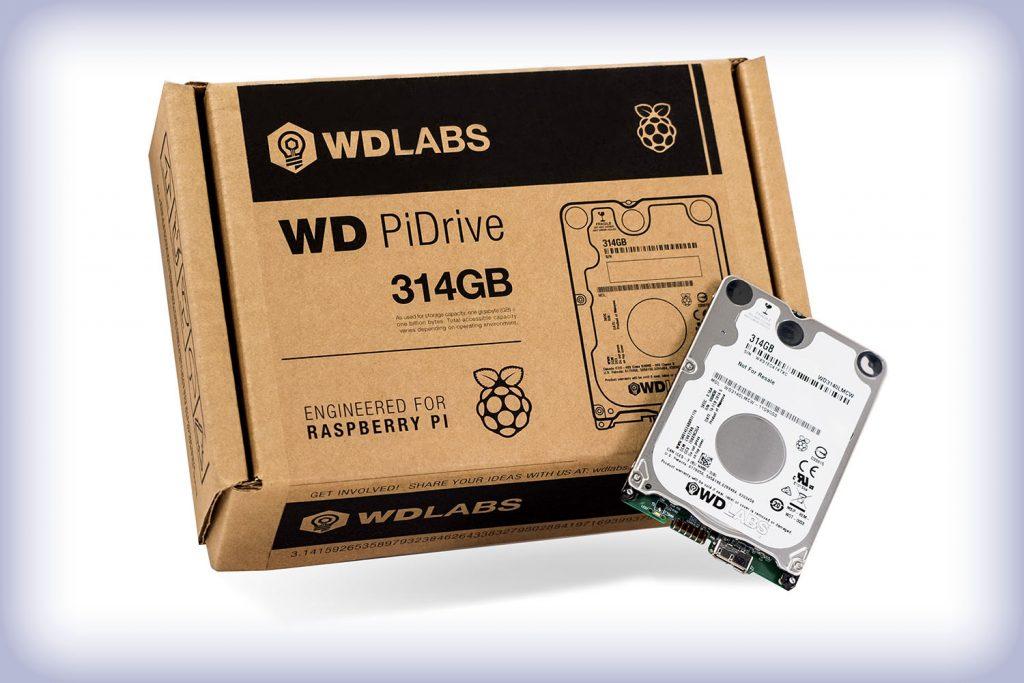 Western Digital stellt 314GB Festplatte für den Raspberry Pi 3 vor