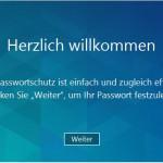 Begrüßungsbildschirm der Verschlüsselungssoftware