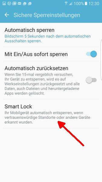 Schritt 4 Smart Lock auswaehlen