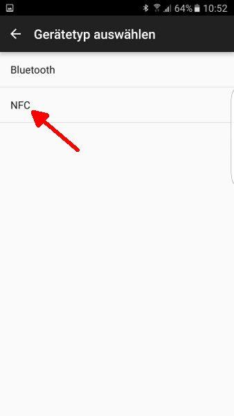 Schritt 8ab NFC anwaehlen