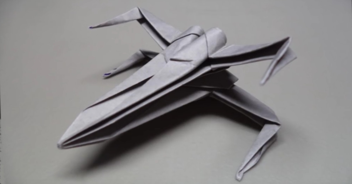 do it yourself star wars xwing fighter aus papier falten