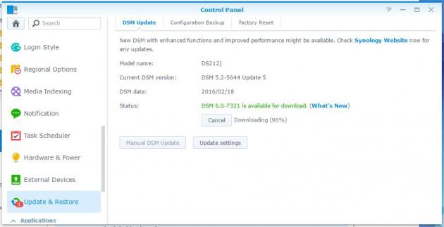 dsm update 2