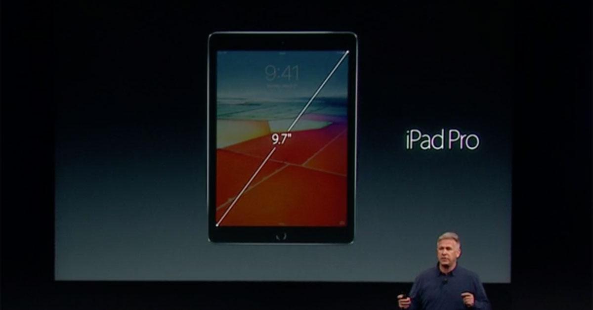 keynote apple stellt ipad pro mit 9 7 zoll display vor. Black Bedroom Furniture Sets. Home Design Ideas