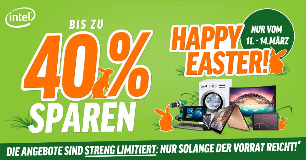 Happy Easter: Mit dem Osterhasen und notebooksbilliger.de bis zu 40 % sparen