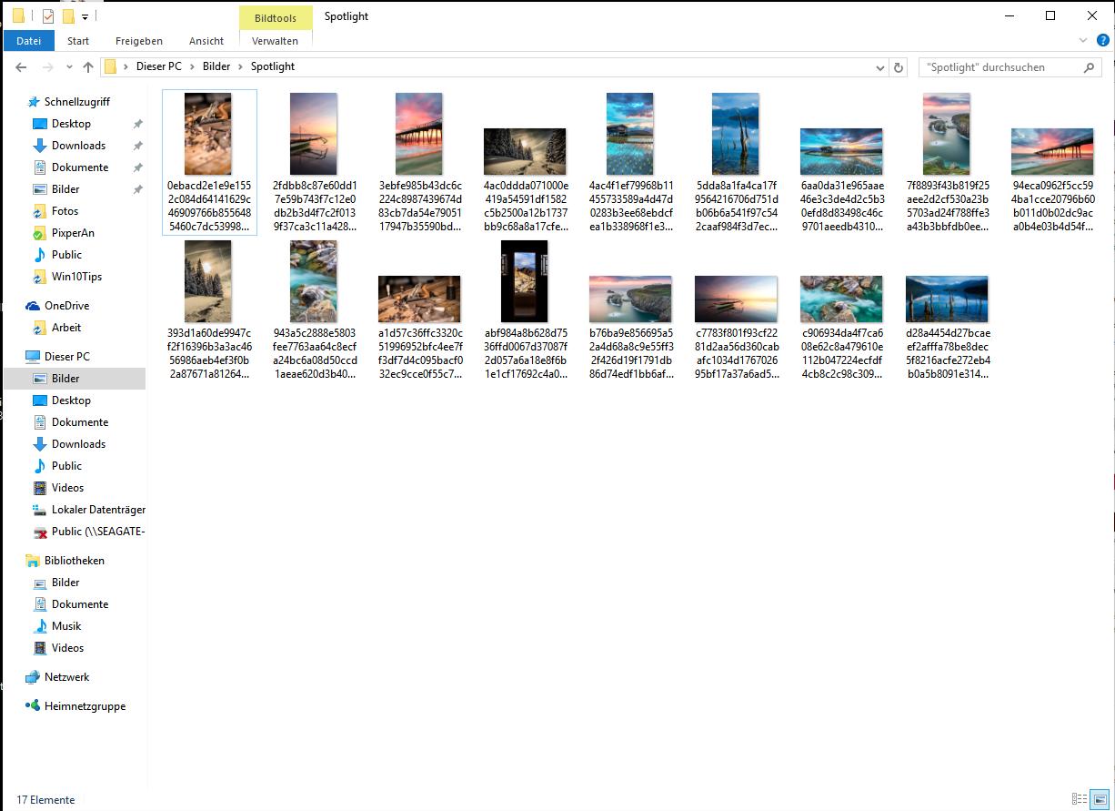 Windows Blickpunkt Bilder Orte