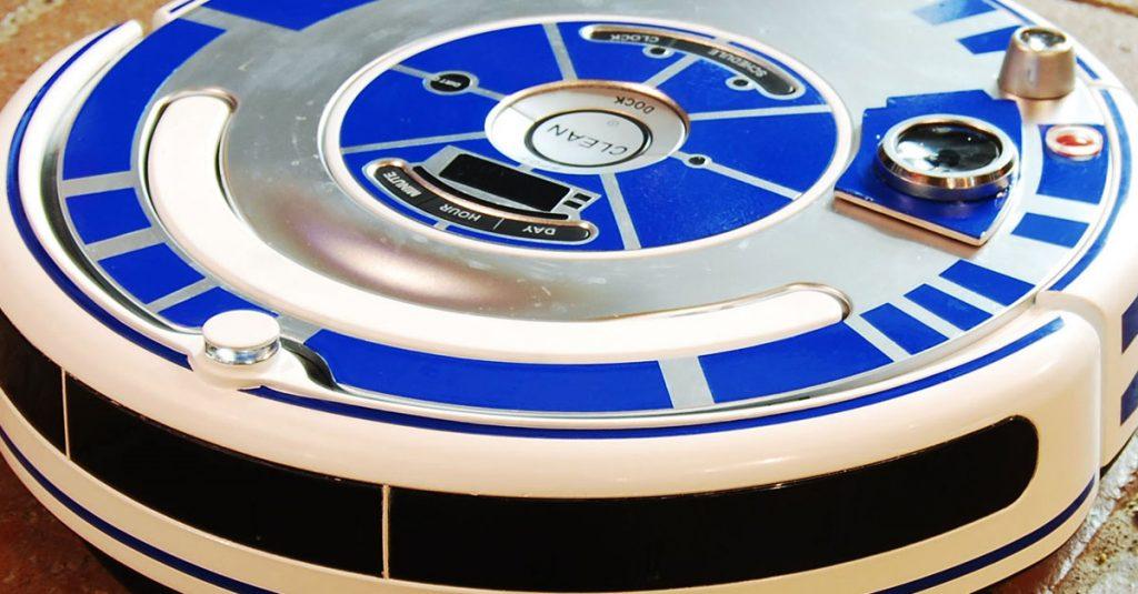 Roomba Staubsaugerroboter in R2-D2 verwandeln