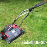 Rasen vertikutieren mit Einhell GE-SC-35 LI-Solo