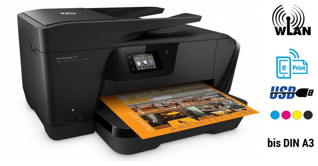 Test: Großformatdrucker bis DIN A3 – HP Officejet 7510 Wide Format AiO