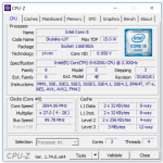 Angaben zur Intel CPU