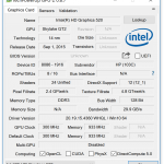 Angaben zur Intel Grafik