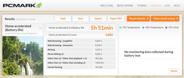 HP Spectre X360 15 - pc mark 8 akku