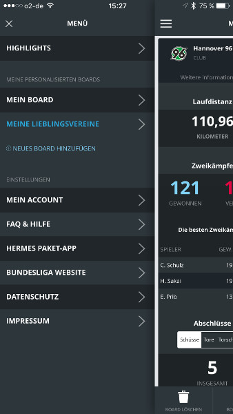 Hermes Bundesliga Facts Menue