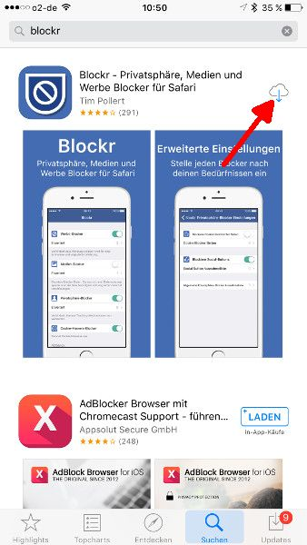 Inhalts-Blocker Blockr Download