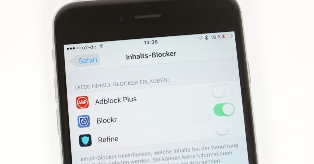Inhalts-Blocker iOS
