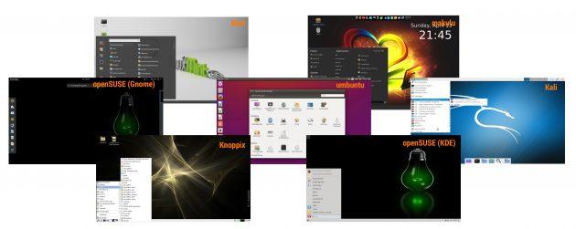 Linux-Oberflaechenvergleich