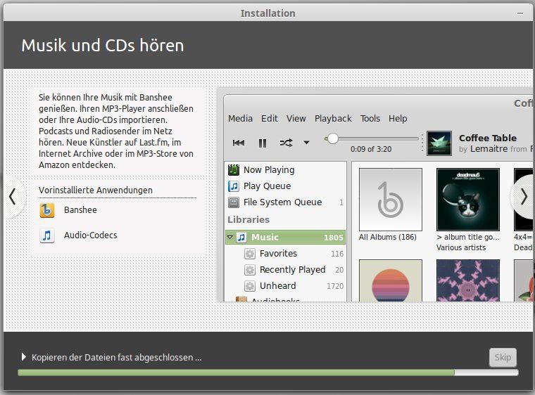 Banshee und Audio-Codes werdenmit installiert