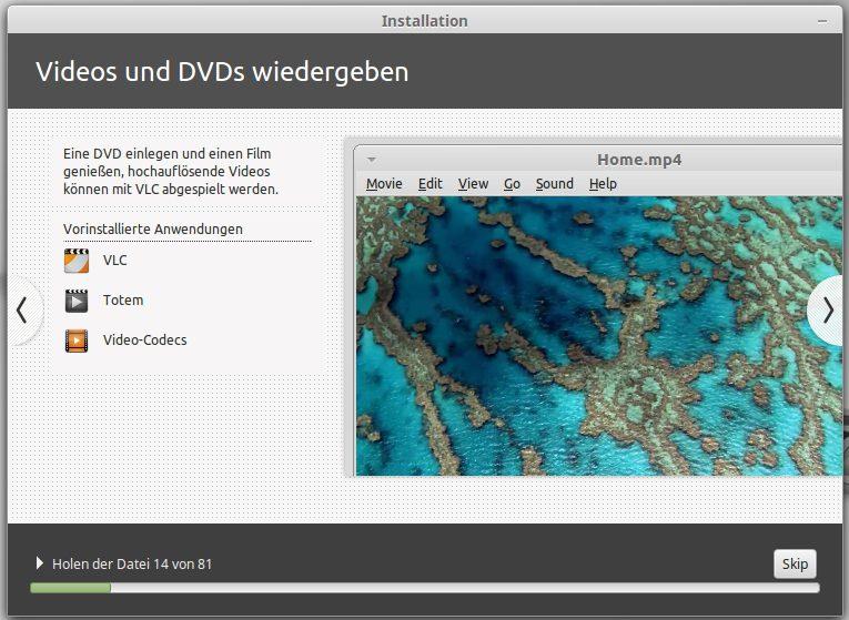 VLC Player plus Video-Codes werden ebenfalls mit installiert