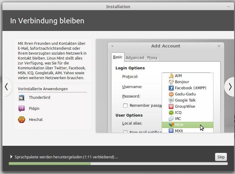 Installation von Thunderbird (eMail Client)