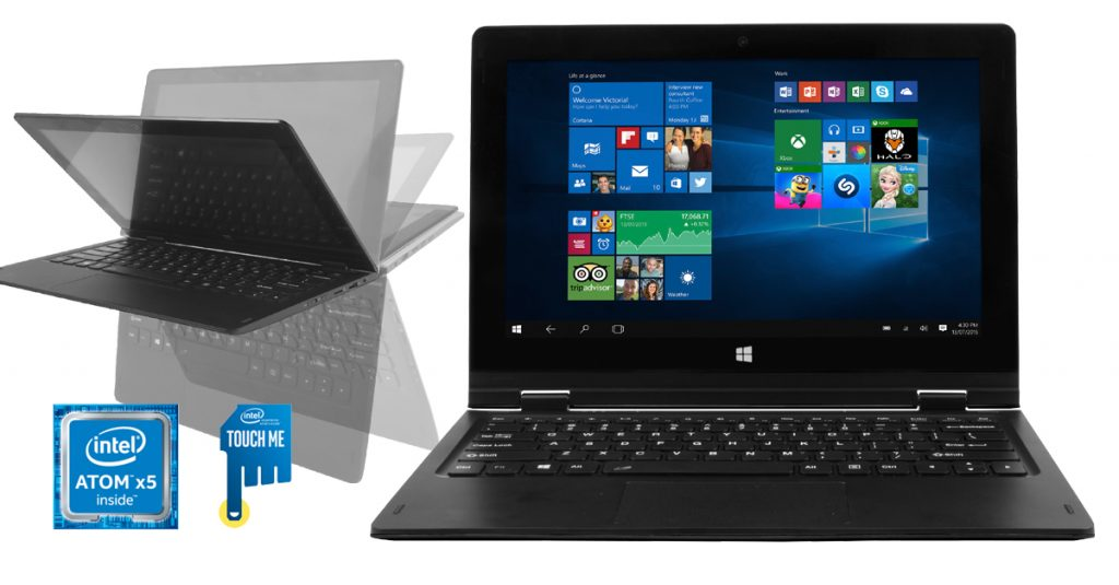 Point of View Twist 11601: Mini-Notebook mit 11,6″ Multitouch Display und Windows für 222 €