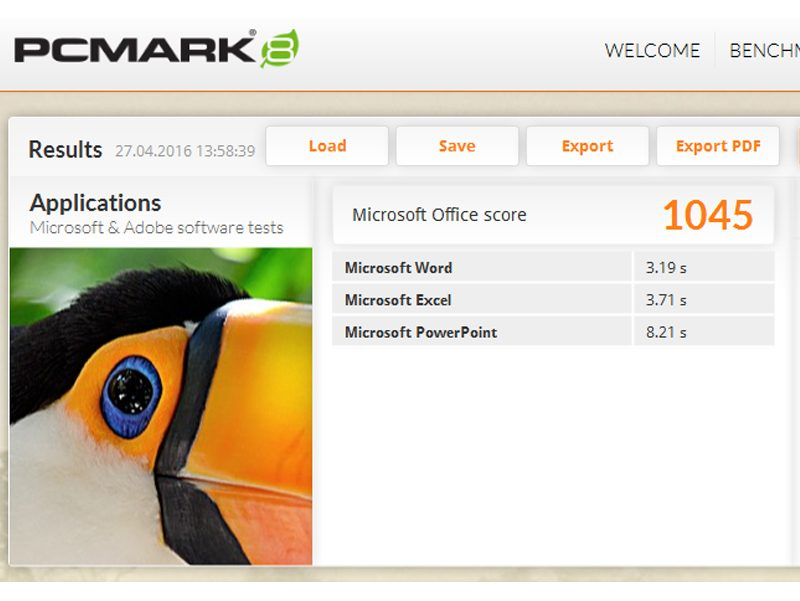 Point of View Twist 1601 – PC Mark 8 Applikations Benchmark