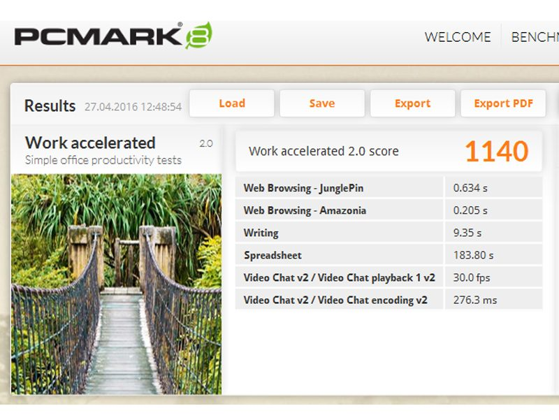Point of View Twist 1601 – PC Mark 8 Work-Benchmark