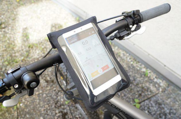 Powerbanks am Fahrrad Befestigung Smartphone und Powerbank