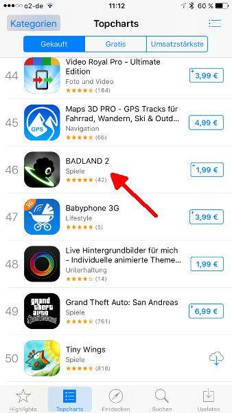 Schritt 2 iOS Apps verschenken App-Beschreibung aufrufen