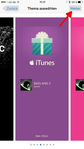 Schritt 6 iOS Apps verschenken Thema auswaehlen
