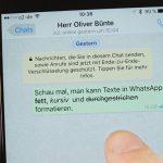 Android und iOS: Text in WhatsApp-Nachrichten formatieren