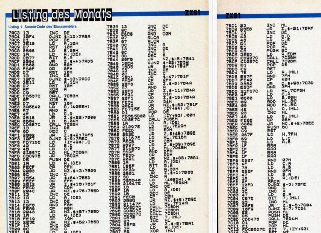 Listings des Grauens: Ausschnitt aus der Happy Computer.