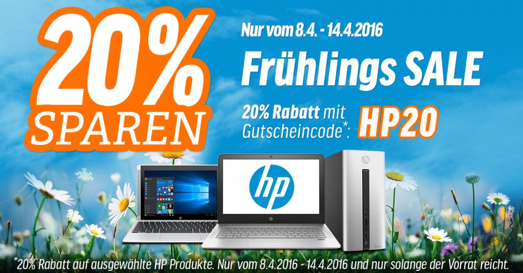 Frühlings Sale: 20% Rabatt auf ausgewählte HP Produkte