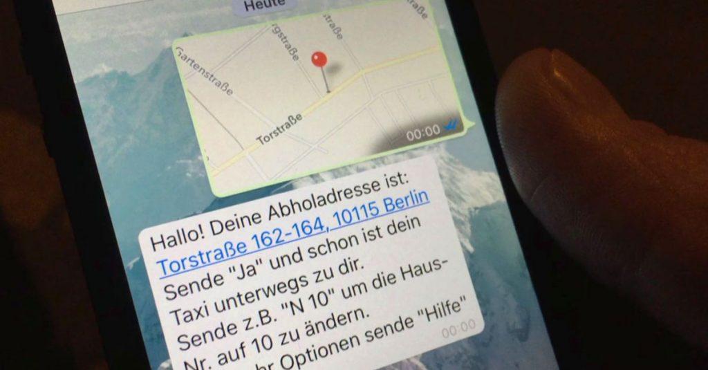 Uberreif: Taxi bestellen mit WhatsApp