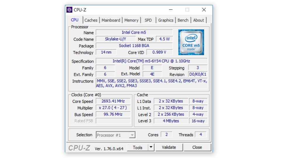 Aspire Switch 12S – Angaben zum Prozessor